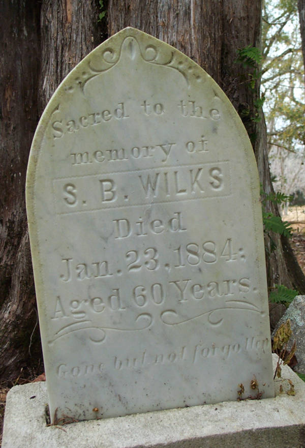 S.B. Wilks Gravestone Photo