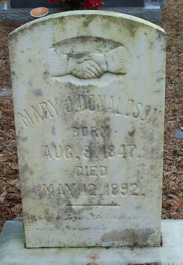Mary J. Donaldson Gravestone Photo