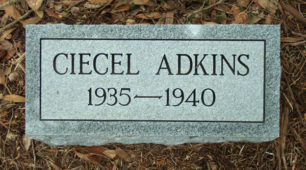 Ciecil Adkins Gravestone Photo