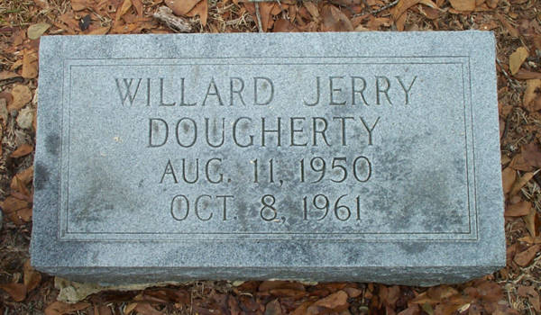 Willard Jerry Dougherty Gravestone Photo