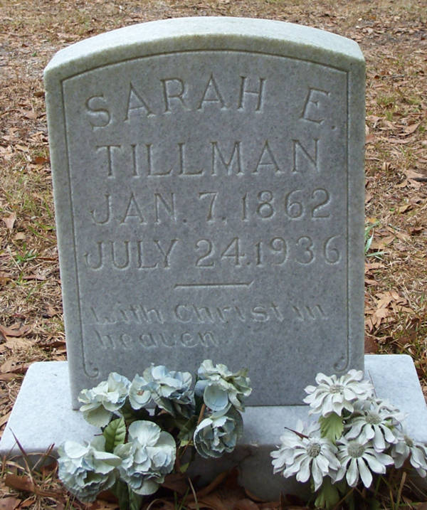 Sarah E. Tillman Gravestone Photo