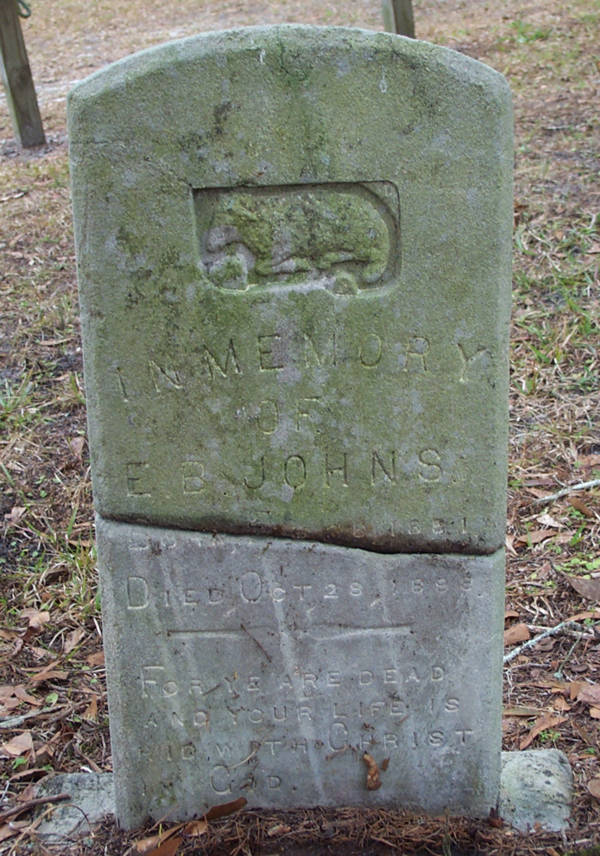 E.B. Johns Gravestone Photo