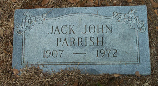 Jack John Parrish Gravestone Photo