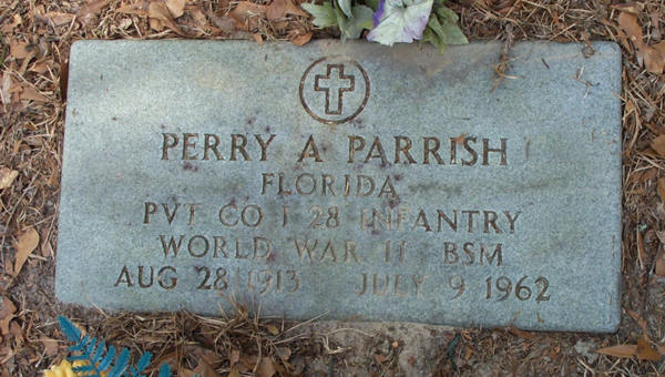Perry A. Parrish Gravestone Photo