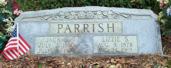 Jack J. & Lizzie S. Parrish Gravestone Photo