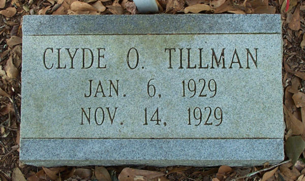 Clyde O. Tillman Gravestone Photo