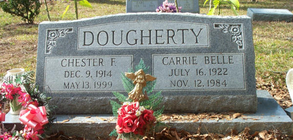 Chester F & Carrie Belle Dougherty Gravestone Photo