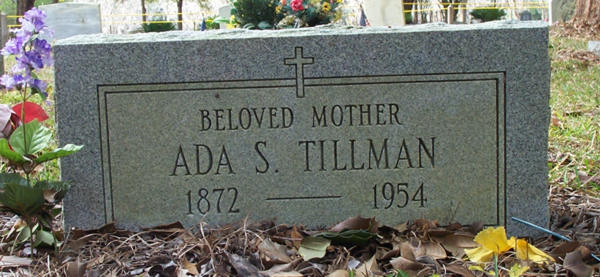 Ada S. Tillman Gravestone Photo