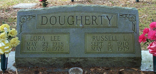 Lora Lee & Russell L. Dougherty Gravestone Photo
