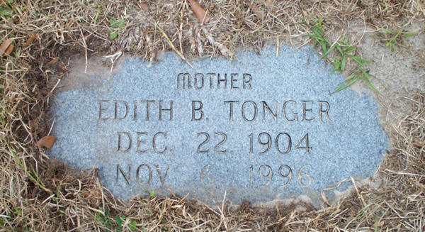 Edith B. Tonger Gravestone Photo