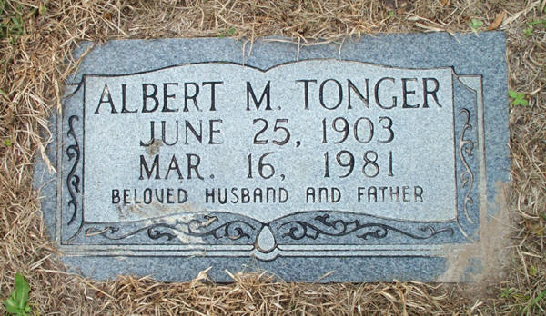 Albert M. Tonger Gravestone Photo