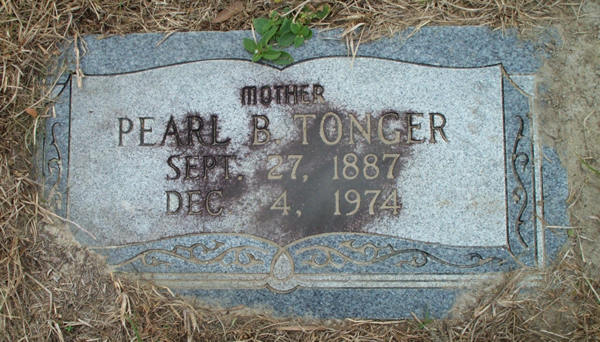 Pearl B. Tonger Gravestone Photo