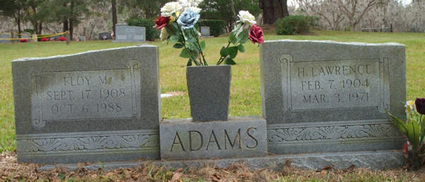 Floy M. & H. Lawrence Adams Gravestone Photo