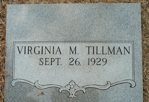 Virginia M. Tillman Gravestone Photo