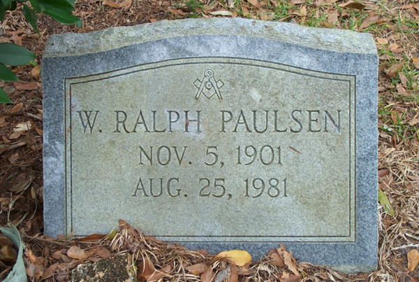 W. Ralph Paulsen Gravestone Photo