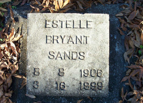 Estelle Bryant Sands Gravestone Photo