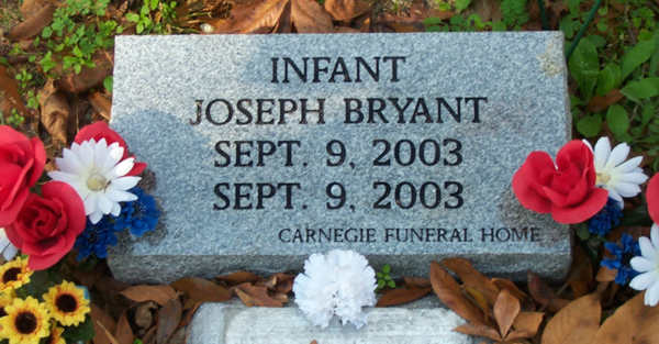 Joseph Bryant Gravestone Photo