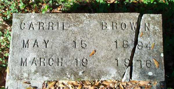 Carrie Brown Gravestone Photo