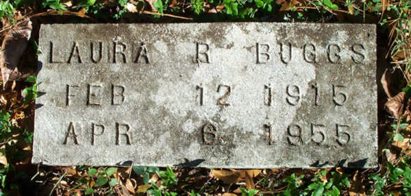Laura R. Buggs Gravestone Photo