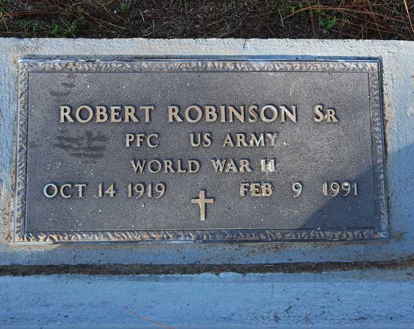 Robert Robinson Gravestone Photo