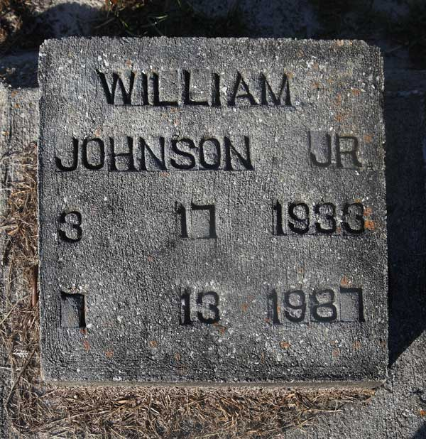 William Johnson Gravestone Photo