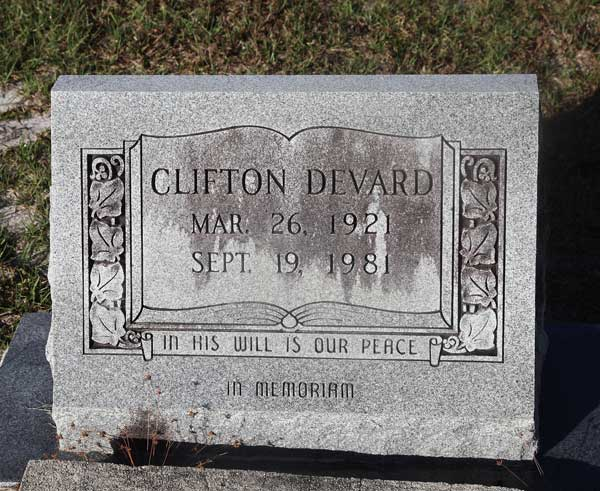 Clifton Devard Gravestone Photo