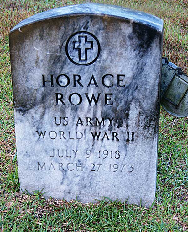Horace Rowe Gravestone Photo