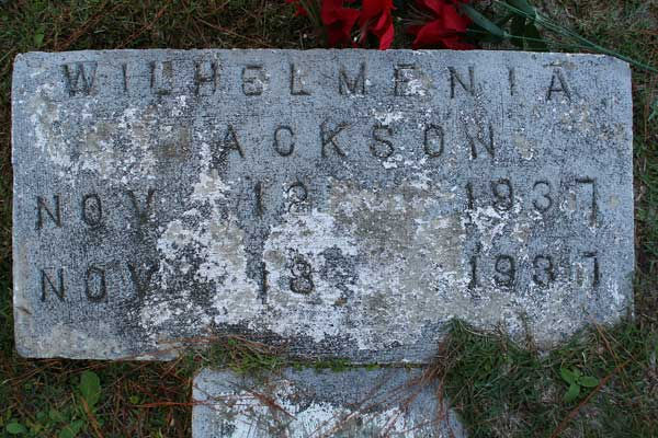 Wilhelmenia Ackson Gravestone Photo