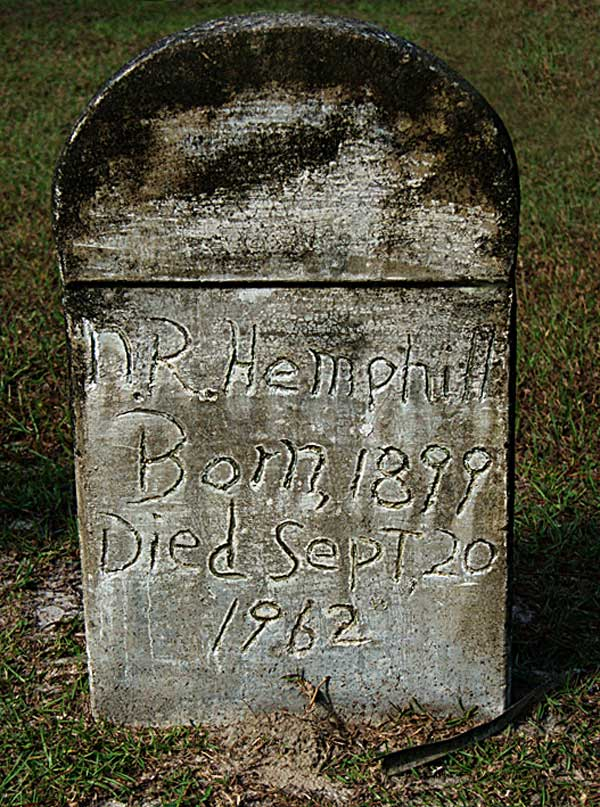 NR Hemphill Gravestone Photo