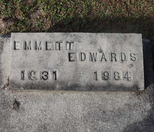 Emmett Edwards Gravestone Photo