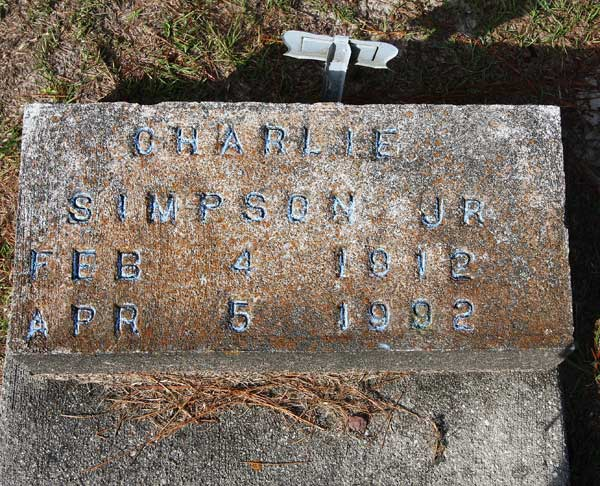 Charlie Simpson Gravestone Photo