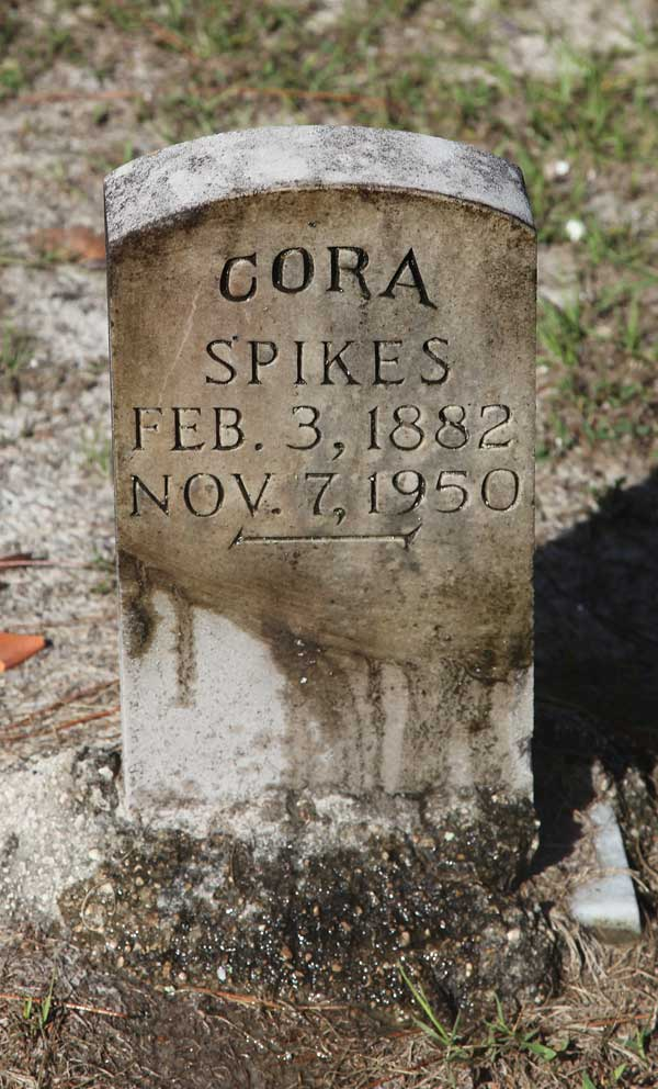 Cora Spikes Gravestone Photo