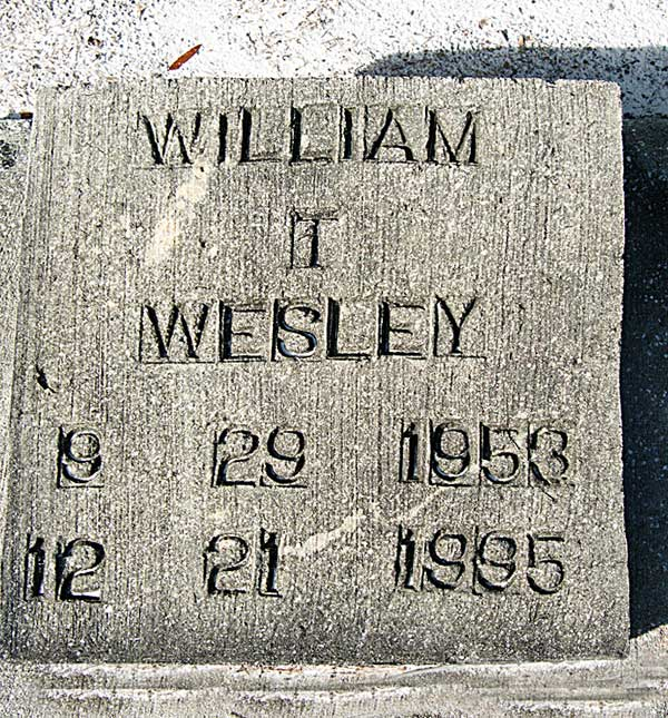 William T. Wesley Gravestone Photo