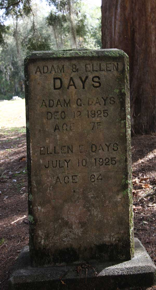 Adam C. & Ellen E. Days Gravestone Photo