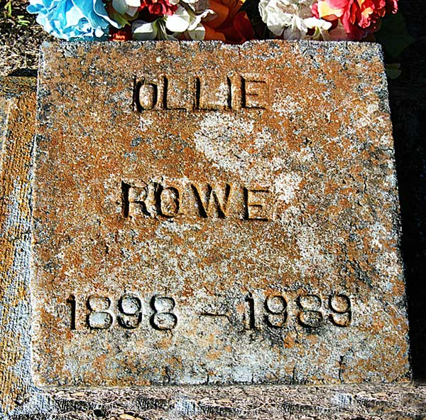 Ollie Rowe Gravestone Photo