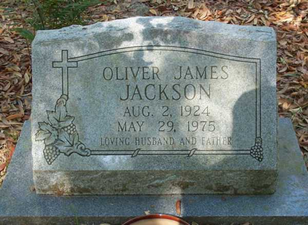 Oliver James Jackson Gravestone Photo