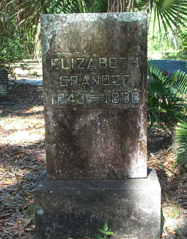 Elizabeth Grandee Gravestone Photo