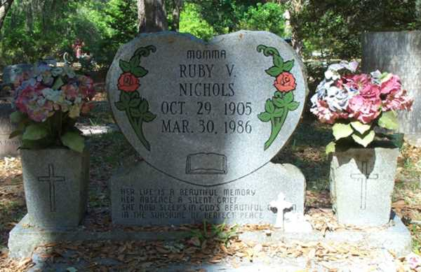 Ruby V. Nichols Gravestone Photo