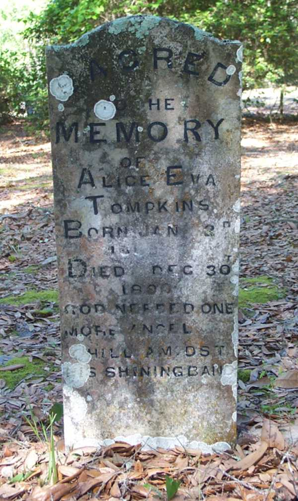 Alice Eva Tompkins Gravestone Photo