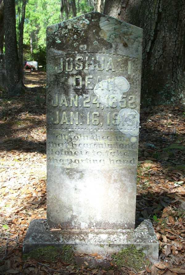 Joshua I  Dean Gravestone, Tompkins Cemetery