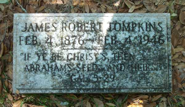 James Robert Tompkins Gravestone Photo