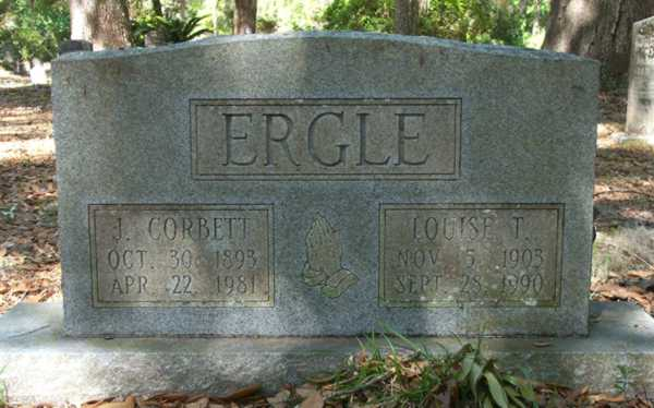 J. Corbett & Louise T. Ergle Gravestone Photo