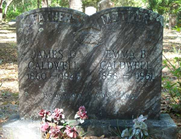 James D. & Emma B. Caldwell Gravestone Photo