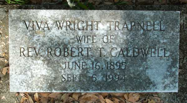 Viva Wright Trapnell Caldwell Gravestone Photo
