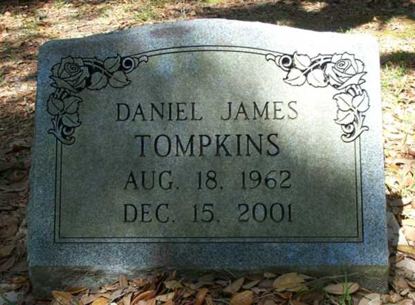 Daniel James Tompkins Gravestone Photo