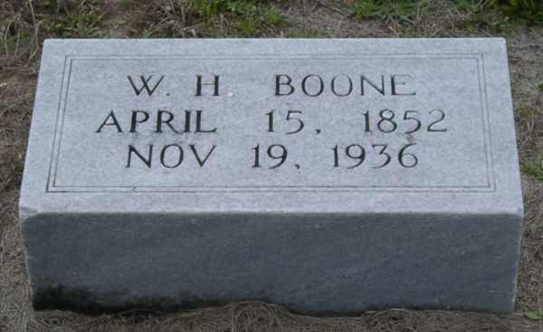 W.H. Boone Gravestone Photo