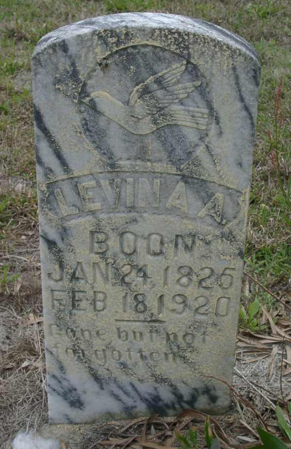 Levina A. Boon Gravestone Photo