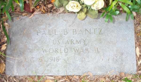 Paul B. Bantz Gravestone Photo