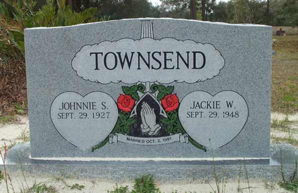 Johnnie S. & Jackie W. Townsend Gravestone Photo