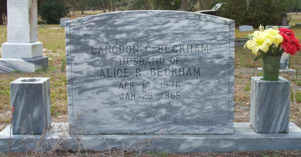 Langdon C. Beckham Gravestone Photo